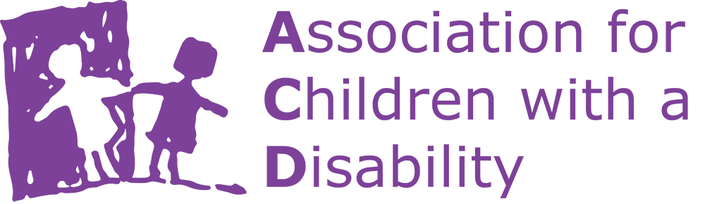 Association for Children with a Disability logo.