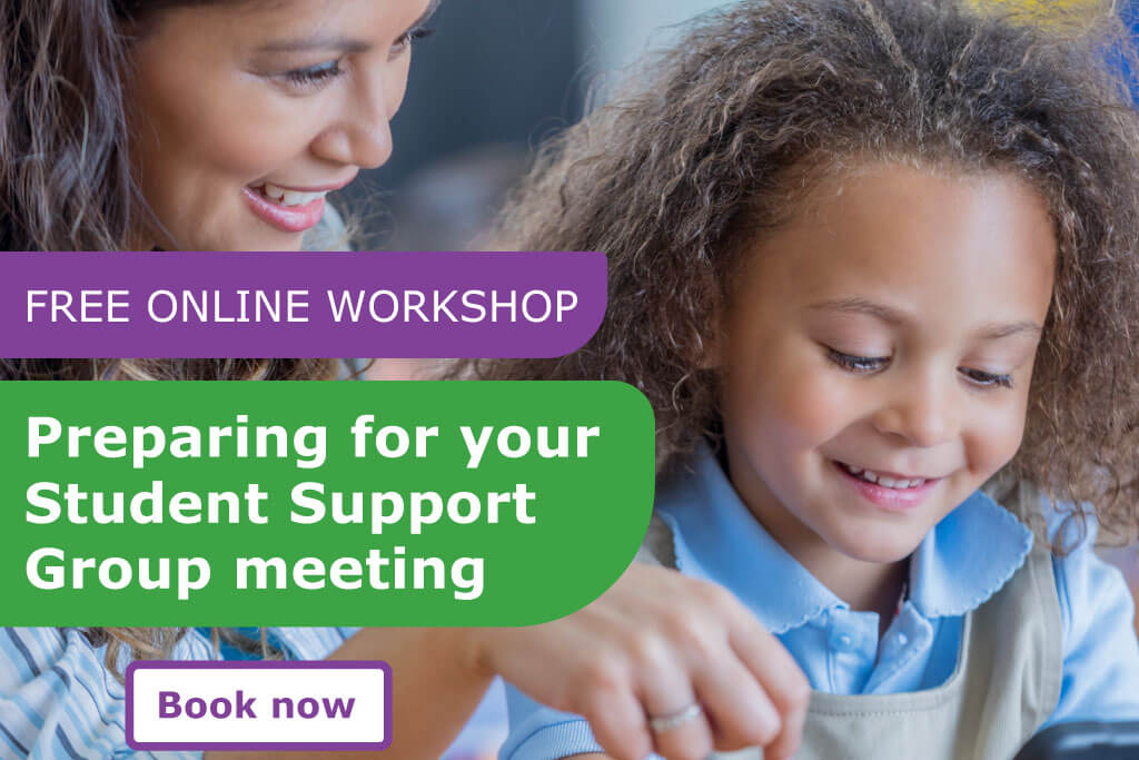 Free online workshop to Prepare for your Student Support Group meeting